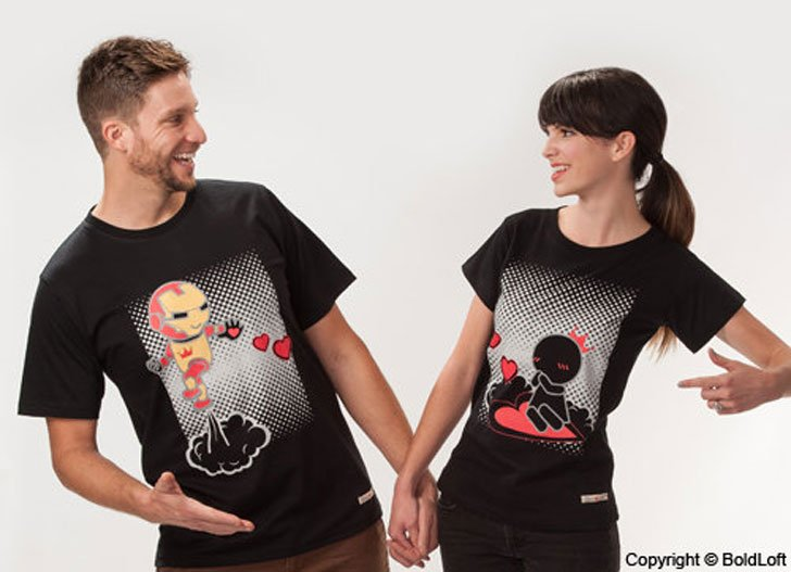 Keep Calm and Love Me His & Hers Couples Shirts