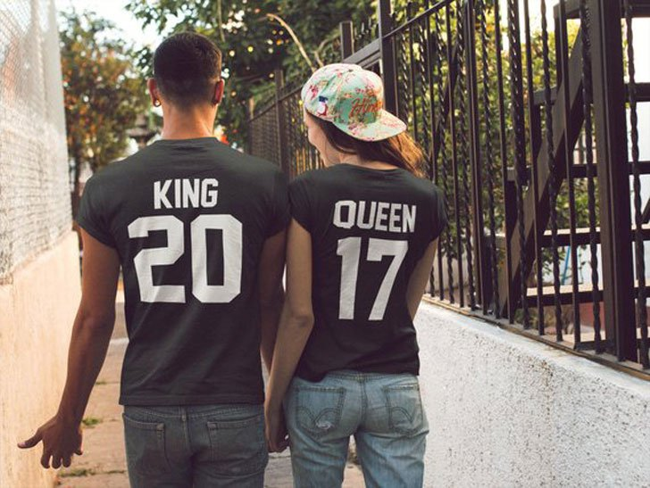 King & Queen Couples T-Shirts