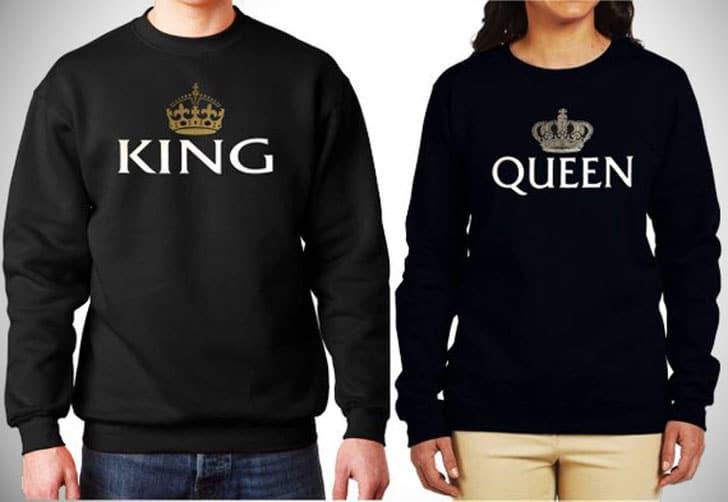 King and Queen Sweatshirts