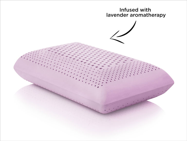 Lavender Zoned Dough Pillow