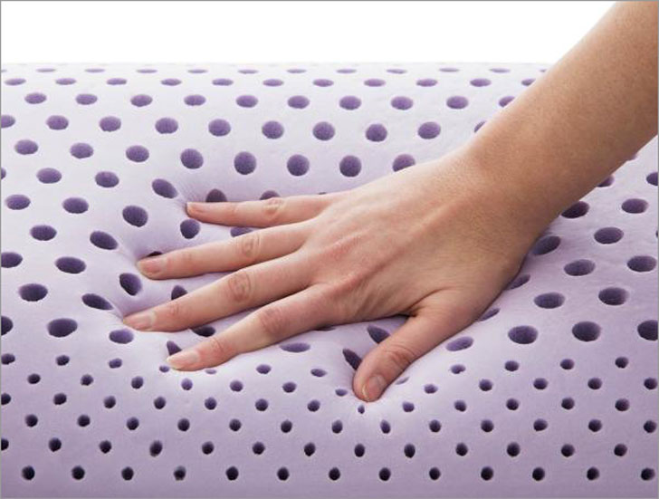 Lavender Zoned Dough Pillow