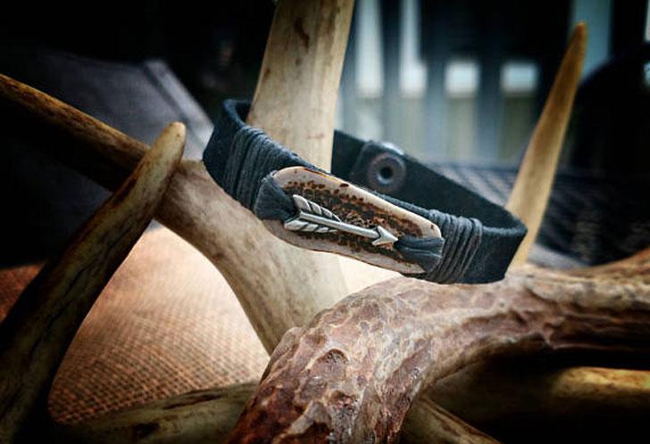 Leather Hunting Arrow Bracelet