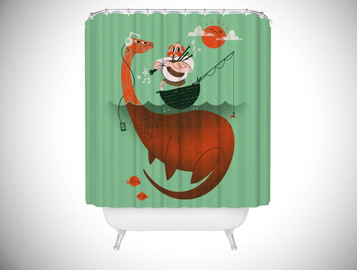 Loch Ness Monster Shower Curtain