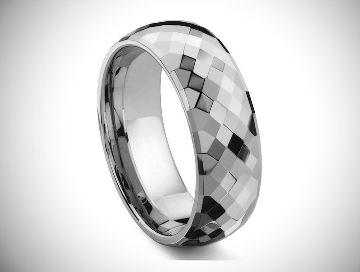MERCURY Tungsten Carbide Wedding Band Ring