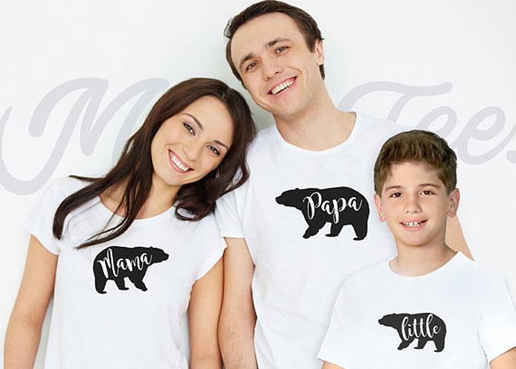 Mama Papa Bear T-shirts