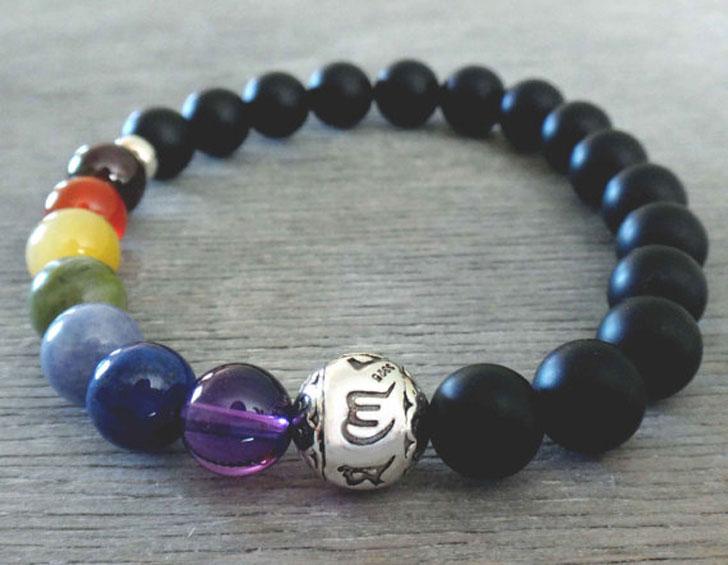 Men's 7 Chakra Healing Bracelet - cool bracelets for guys