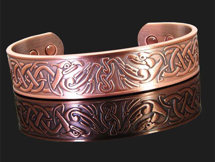 Mens Copper Viking Bracelet - cool bracelets for guys