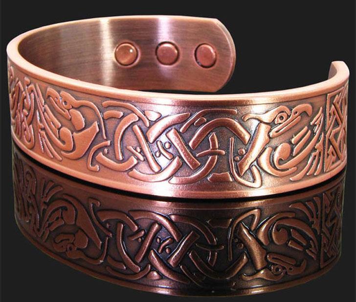 Mens Copper Viking Bracelet