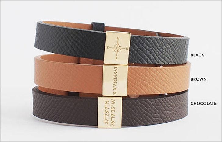 Mens Personalised Coordinates Bracelet