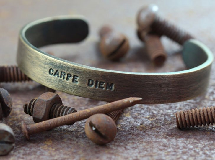 Men S Personalized Oxidized Br Bracelet Cool Bracelets For Guys