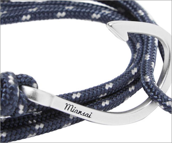 Miansai Hook Cord Silver-Plated Wrap Bracelet