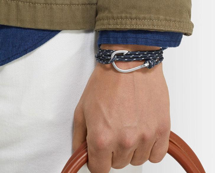 Miansai Hook Cord Silver-Plated Wrap Bracelet - cool bracelets for guys