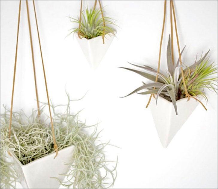 Mid Century Hanging Pyramid Planter Pots