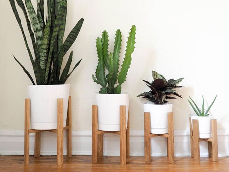 Mid Century Modern Planter Stand Awesome Stuff 365