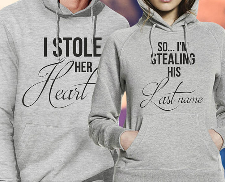 Mr And Mrs Stole Her Heart Matching Hoodies
