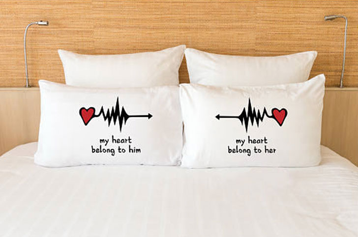 My Heart Belongs to Him and Her Pillowcases