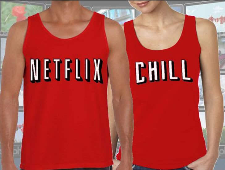 Netflix & Chill Couples Tee's