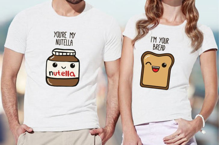 Nutella and Bread Couples Shirts