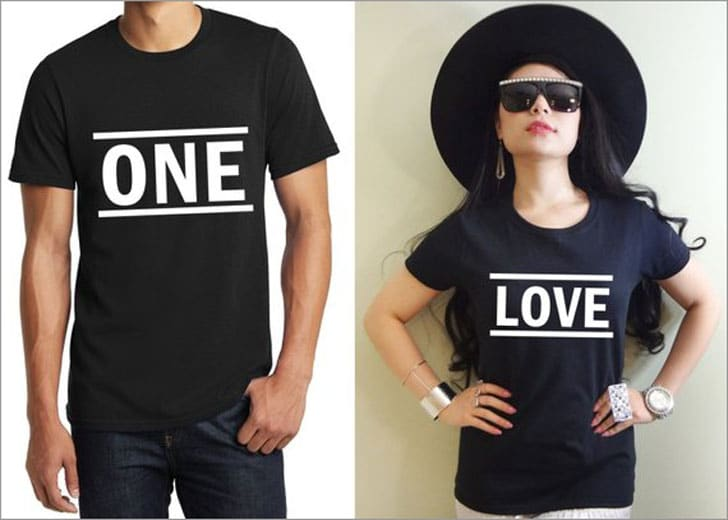 One - Love Couples T-Shirts