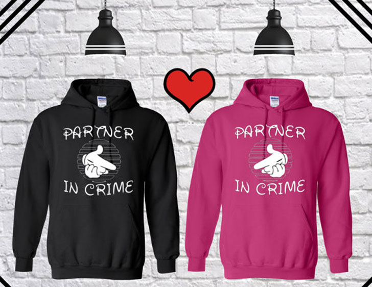 Partners in Crime Couples Disney Hoodies