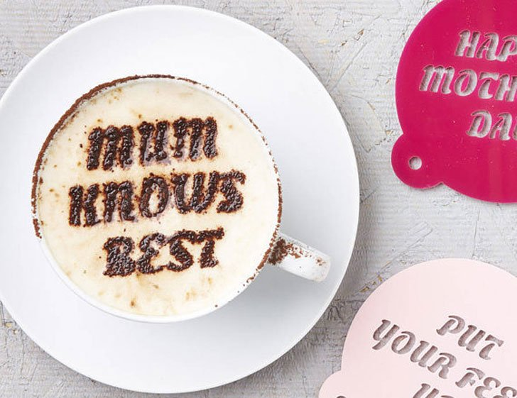 Personalised Coffee Stencils - gifts for coffee lovers