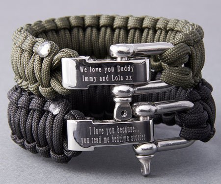Personalised Paracord Survival Bracelet