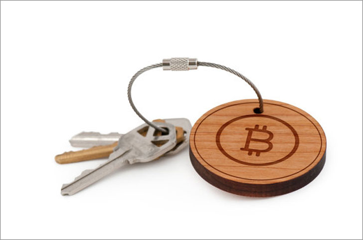 Personalised Wooden Bitcoin Keychains