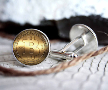 Personalized Bitcoin Cufflinks