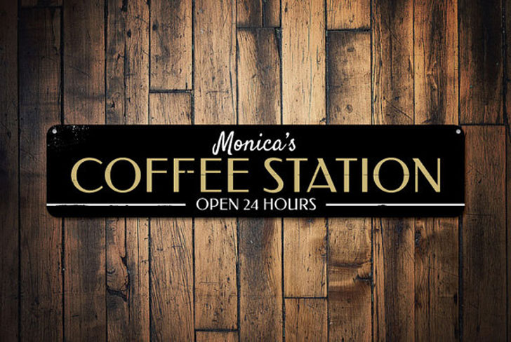 Personalized Coffee Station Sign - gifts for coffee lovers