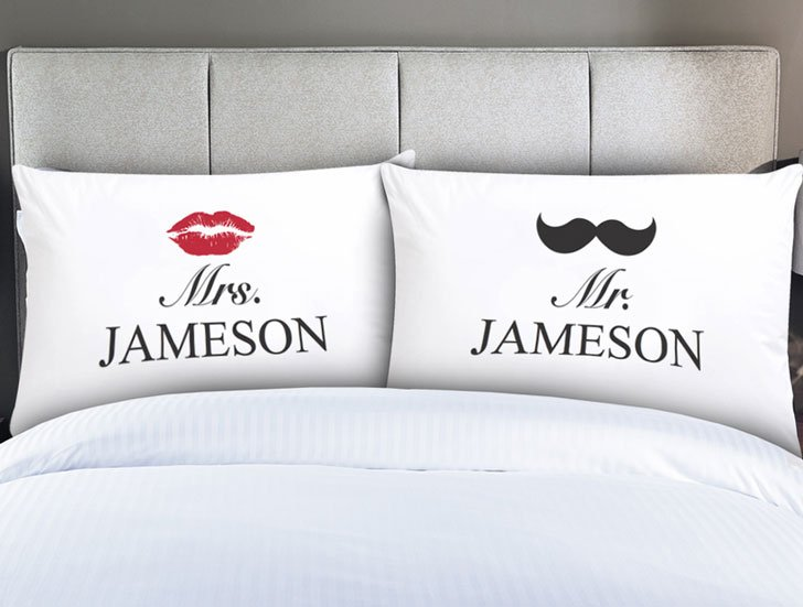 Personalized Couples Mr. & Mrs. Pillow Cases - couples pillowcases