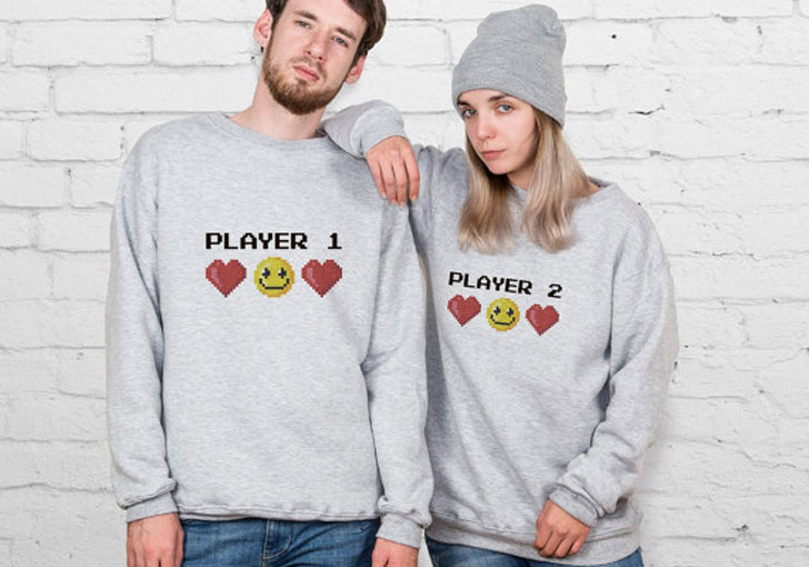 Player 1 & 2 Couples Sweaters