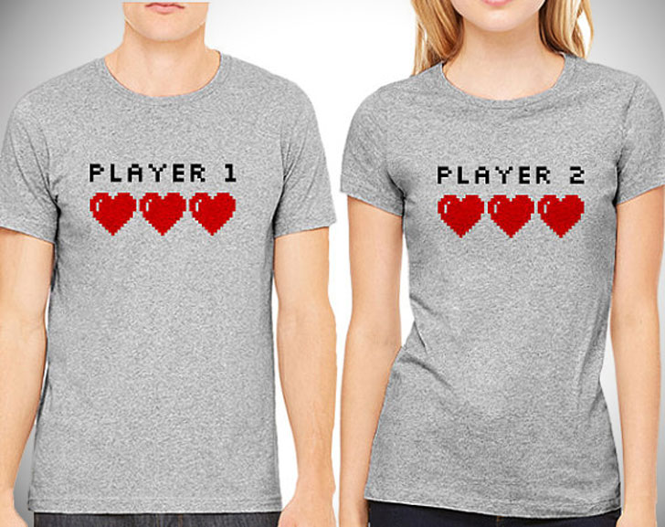 Player1 and Player2 Couples Shirts