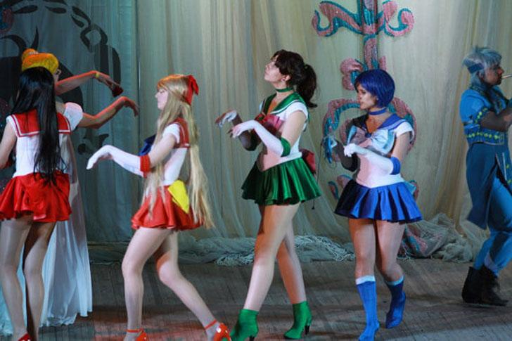 Sailor Moon Scout Uniform Fuku Anime Cosplay Costume