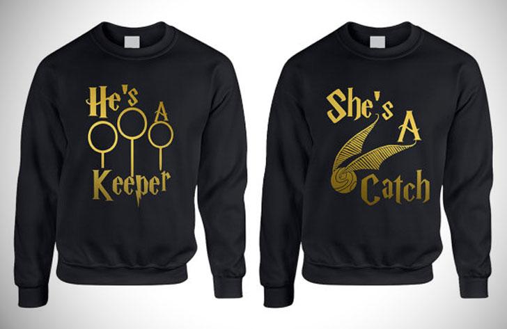 She's A Catch He's A Keeper Sweatshirts