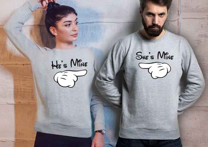 She's Mine - He's Mine Couples Sweaters