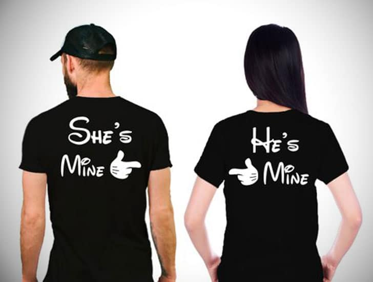 She's Mine & He's Mine Couples Tee's