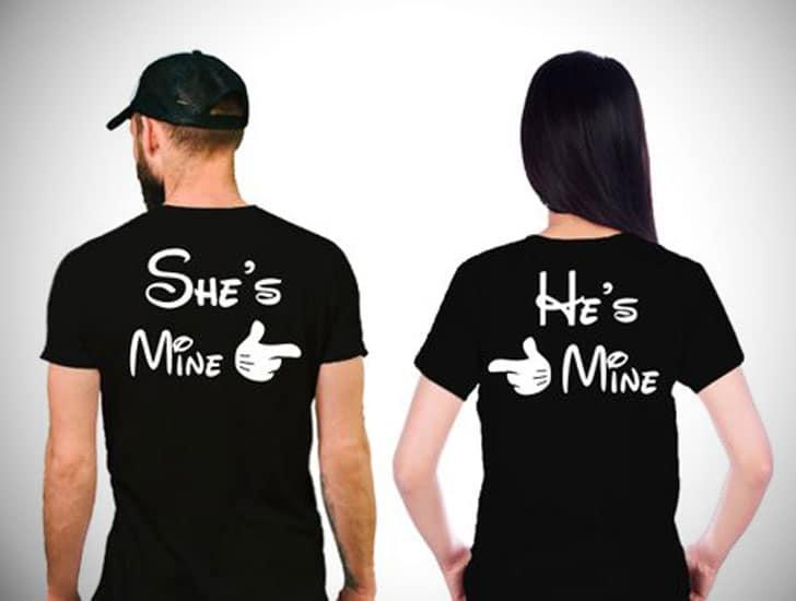 She's Mine & He's Mine Couples Tee's