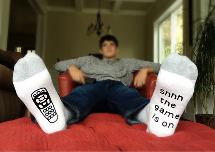 Shhh The Game is on Socks