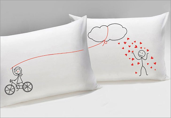 Showering You With My Love Couple Pillowcases