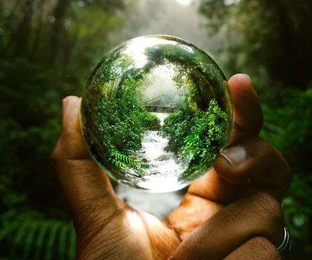 Spherical Crystal Lens