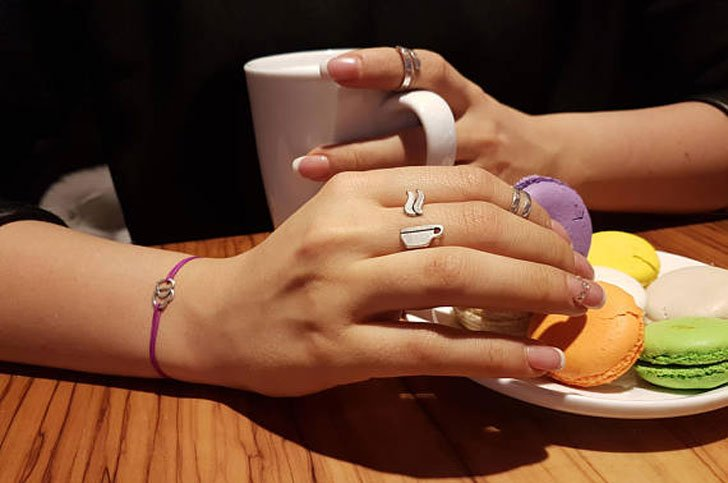 Sterling Silver Cappuccino Coffee Ring