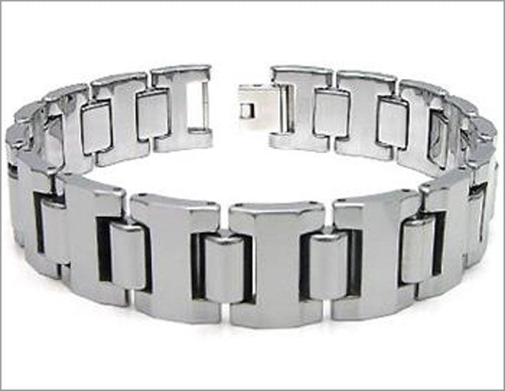Suprano Tungsten Carbide Men's Link Bracelet