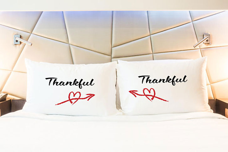 Thankful Couple Pillow Cases