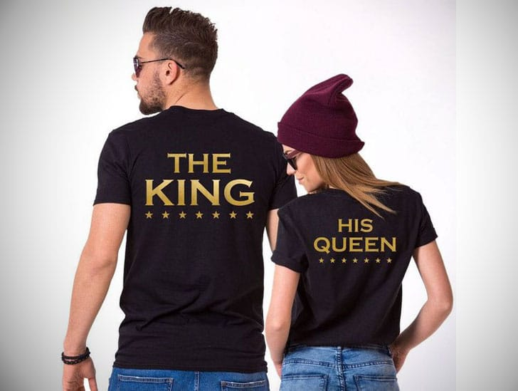 The King & Queen Couples T-Shirts