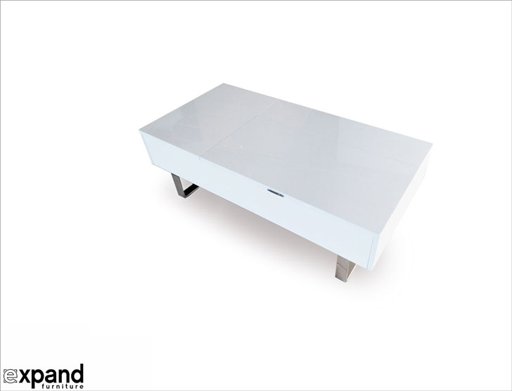 Transforming Occam Coffee Table with Lift Top