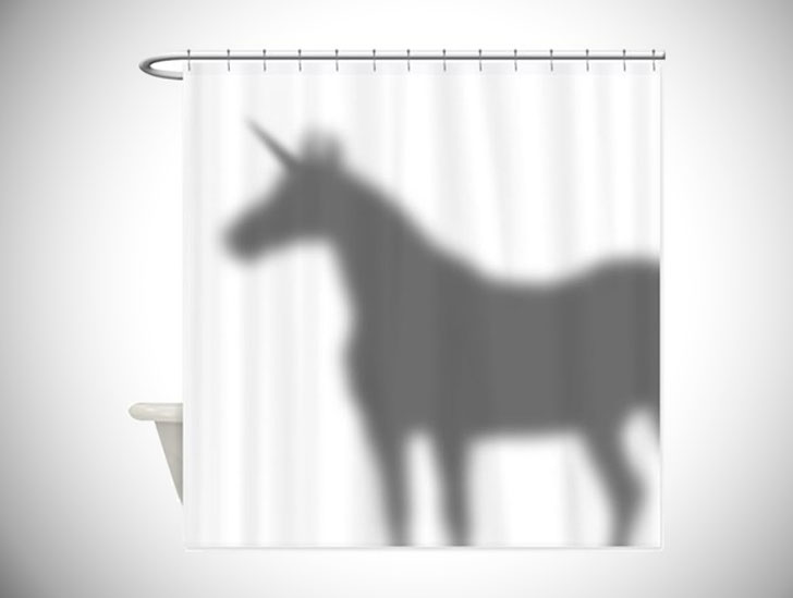 Unicorn Silhouette Shower Curtain