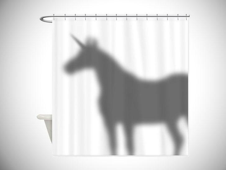 Unicorn Silhouette Shower Curtain
