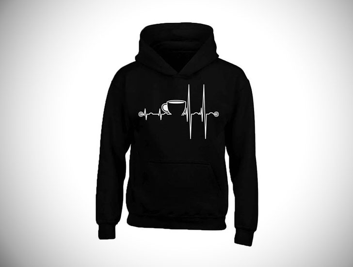 Unisex Coffee Heartbeat Hoodies
