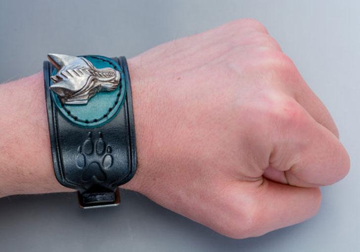 Viking Wolf Bracelet Cuff - cool bracelets for guys