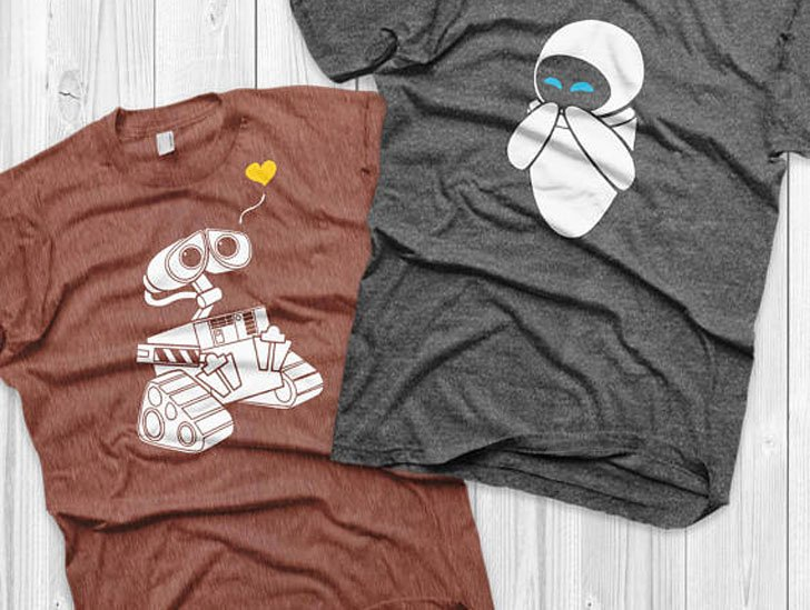Wall-e and Eve Couples T-Shirts